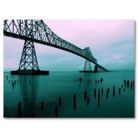 Αφίσα (astoria, γέφυρα, χρώματα, φώτα, θάλασσα)